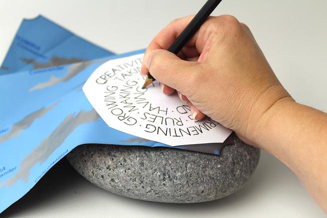 quote_on_stone_carbonpaper_hand