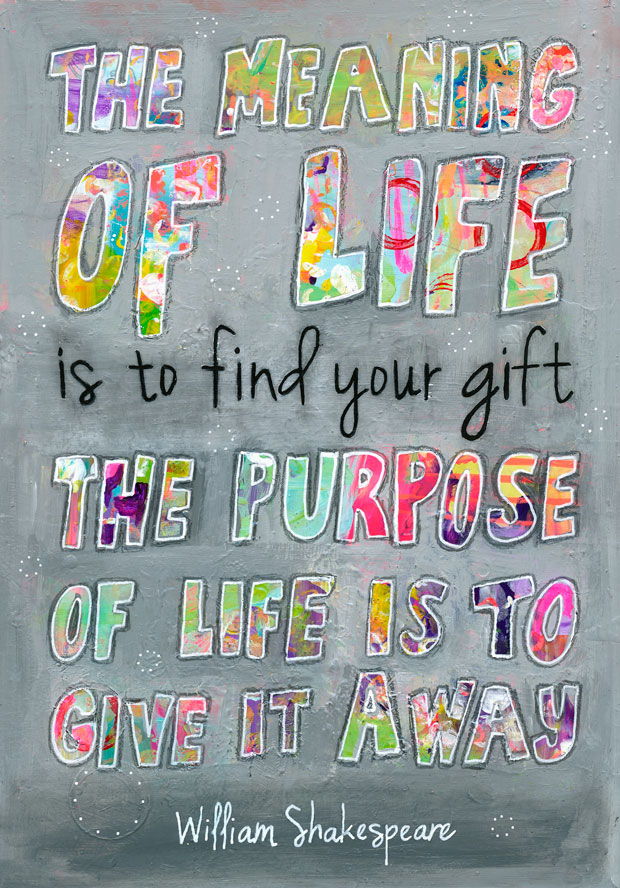 DIY Painted Quote The Meaning Of Life Charlotte Engel Studio Best What Is The Meaning Of Life Quotes