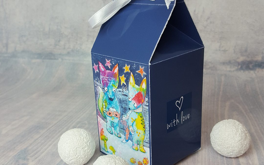 Printable Gift Box – Milk carton