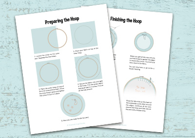 How to start and finish an embroidery hoop